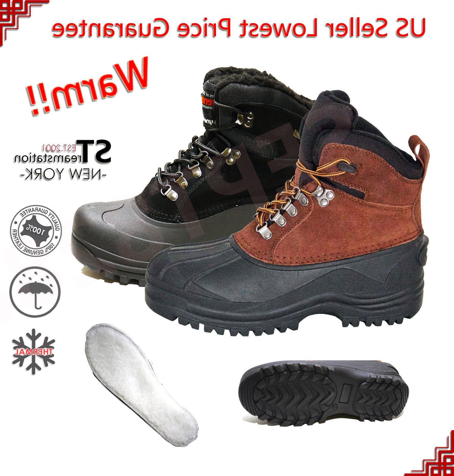 lm men s insulated winter snow boots