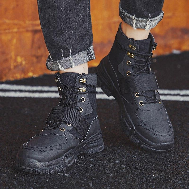 Men Military Tactical Winter Force Desert Ankle Men <font><b>Leather</b></font> Army