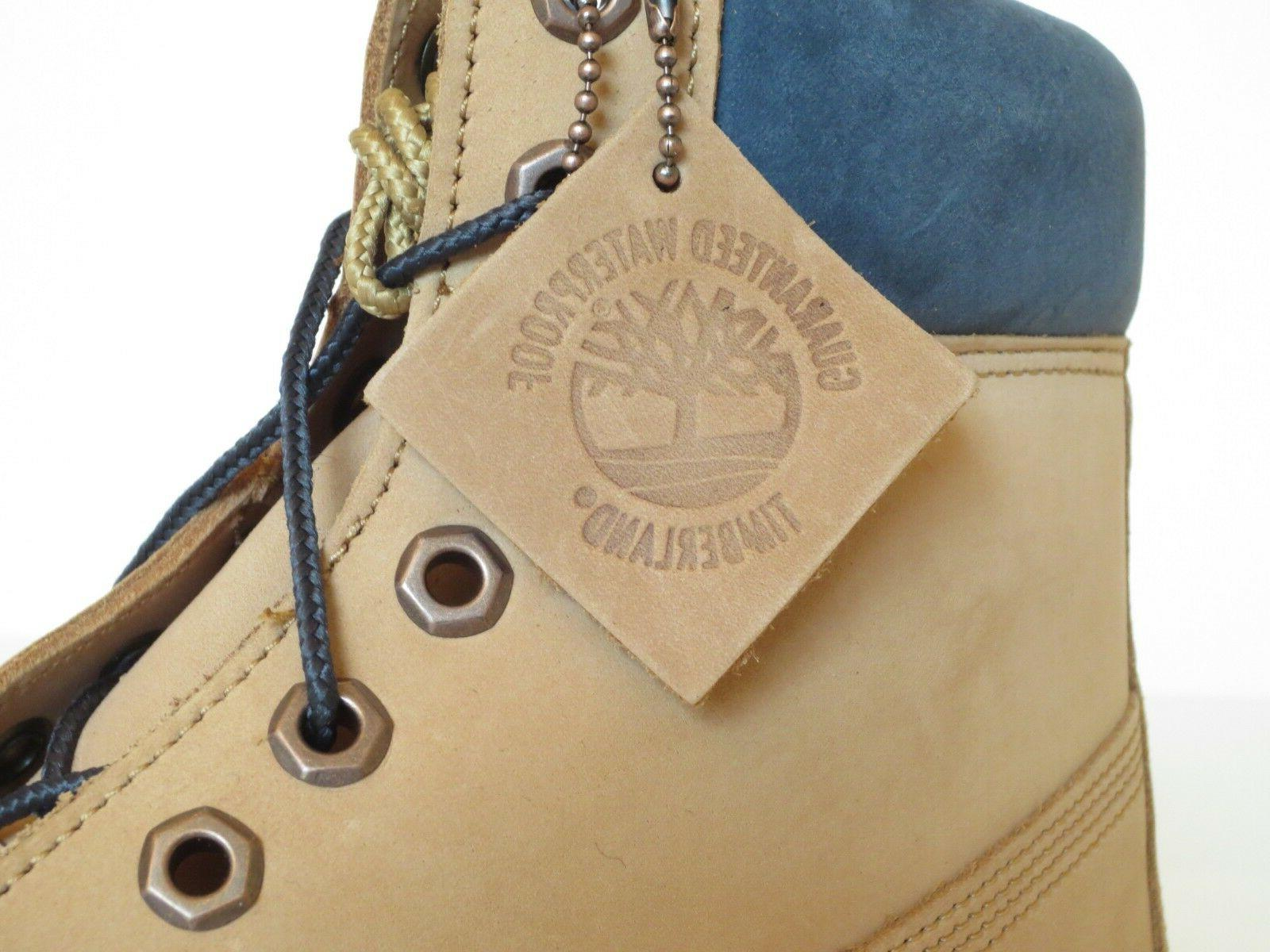 Timberland Premium Leather Work Boots Style Sand / Blue