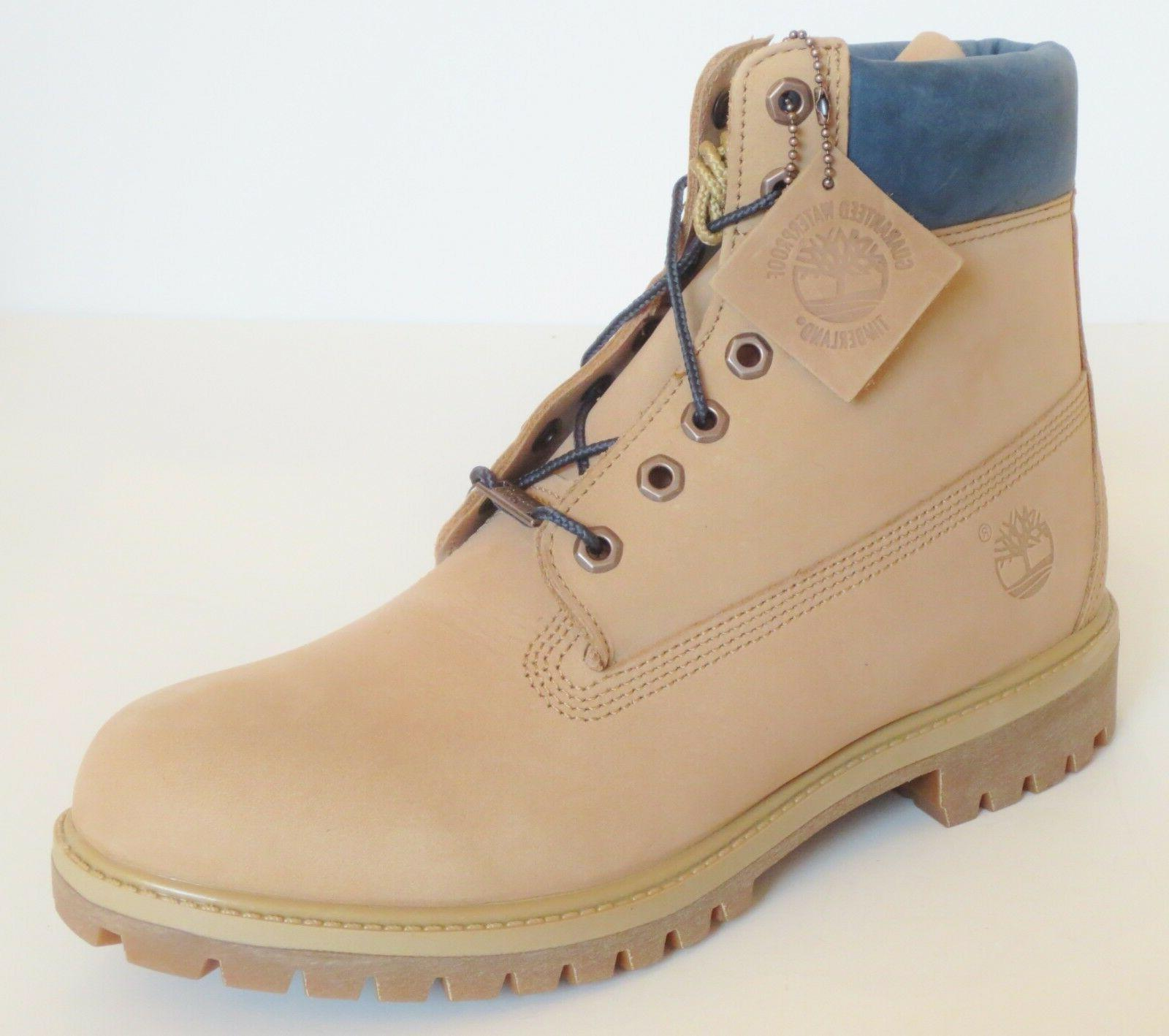 Timberland Premium Leather Work Boots Style Tan Sand