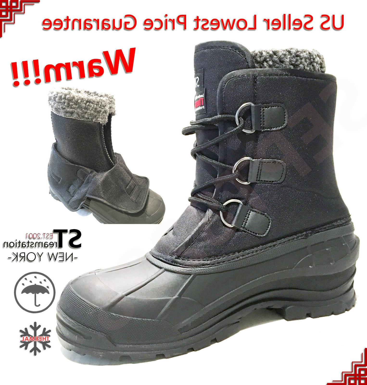 men s black winter snow boots shoes