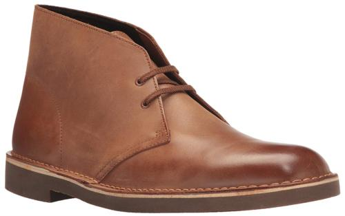 CLARKS Men's Bushacre 2 Chukka Boot, Dark tan Leather, 10 Me