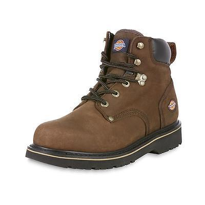 Dickies Men's Classic Brown Soft Toe Work Boot Oil slip resi
