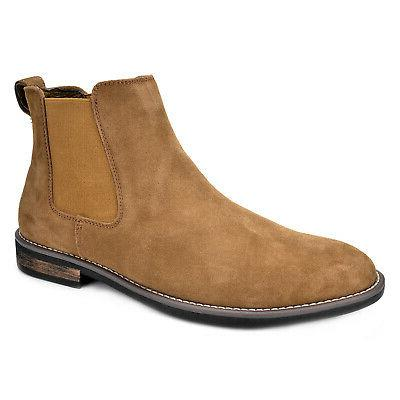 Men's  Ankle Boots Dress Suede Leather Casual Slip-on  Chels