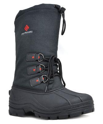 DREAM PAIRS Men Snow Boots Insulated Waterproof Rugged Duty