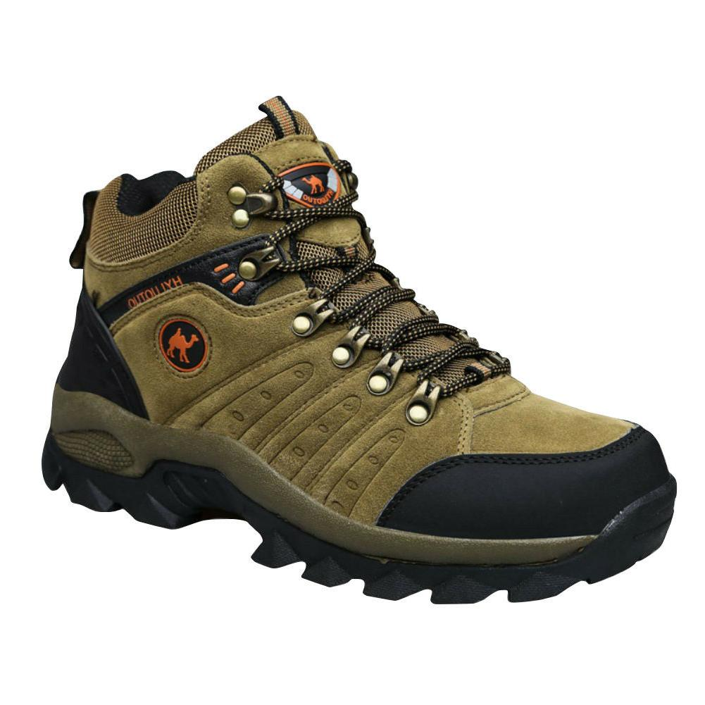 Men's lightweight low cut leather comfortable brown climbing
