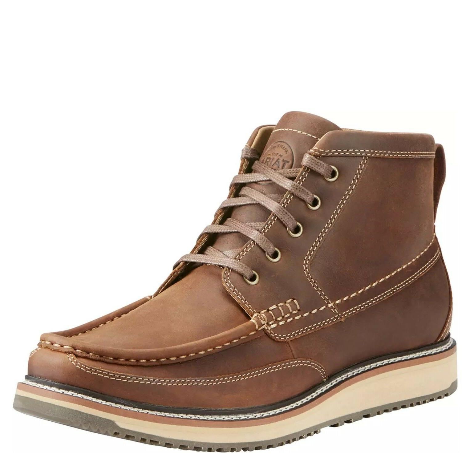 Ariat® Men's Lookout Foothill Brown Lace-Up Leather Shoes 1