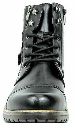 BRUNO YORK Men's Boots Black-3 9.5 M US