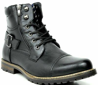 men s military motorcycle combat boots black