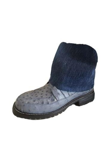 MEN'S NEW 100% OSTRICH WITH DUTY SOLES.