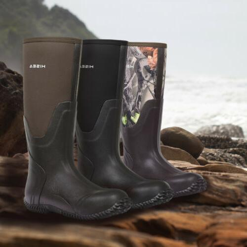 HISEA Rubber Boots Breathable Muck Boot