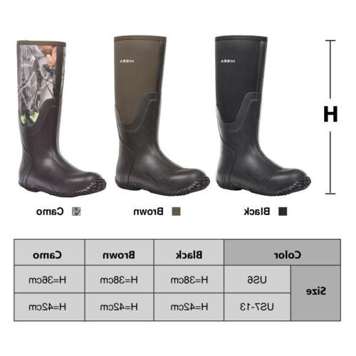 HISEA Men's Rubber Boots Insulated Breathable Outdoor Muck