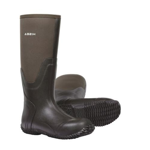 HISEA Men's Rubber Boots Insulated Breathable Muck