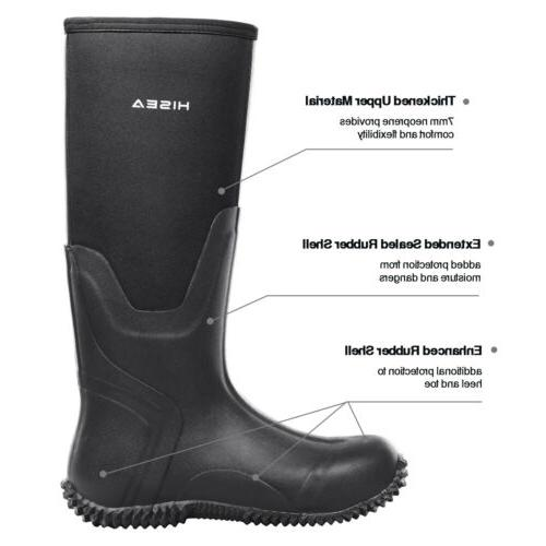 HISEA Rubber Boots Breathable Outdoor Muck Boot