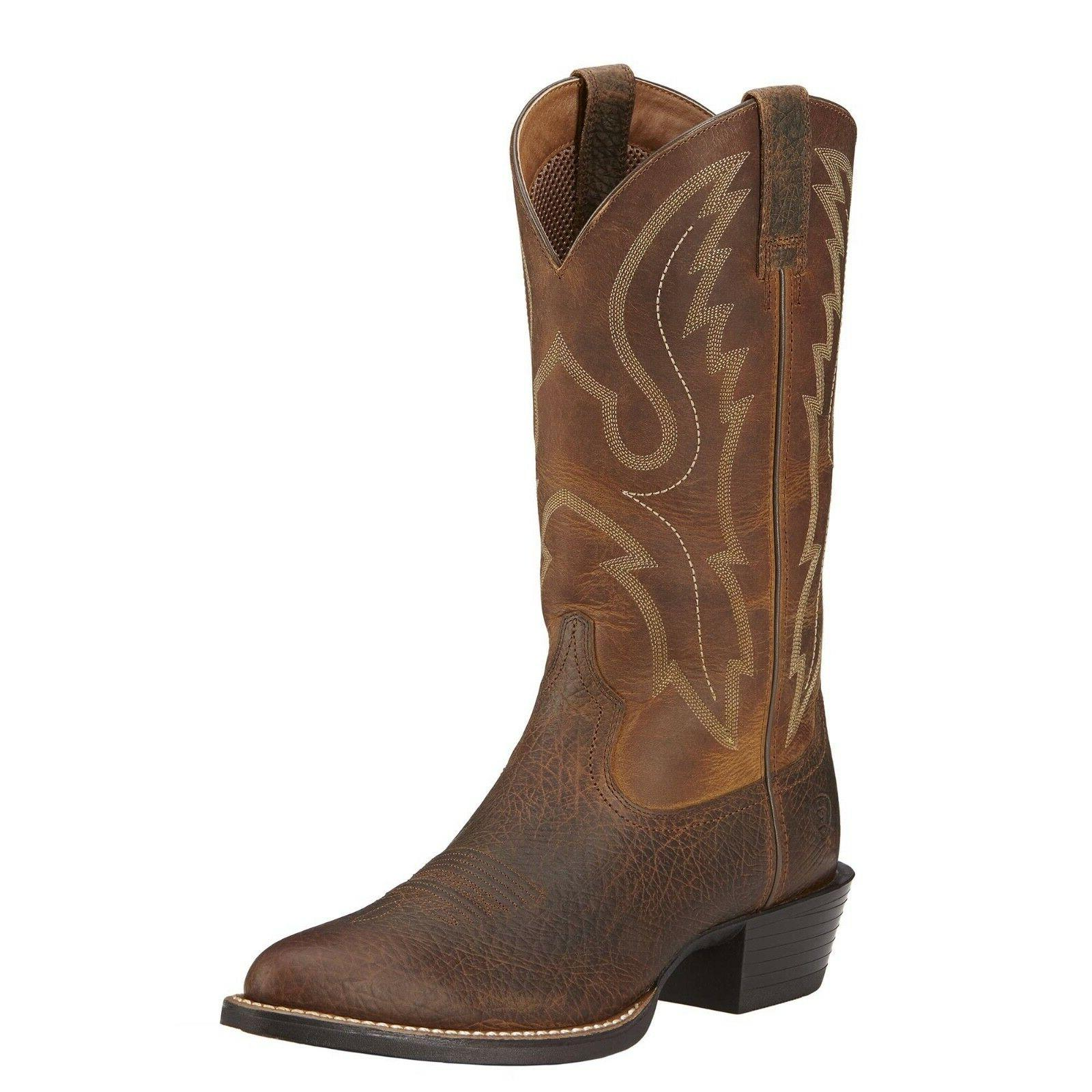 Ariat® Men's Sport R Toe Earth Brown Western Boots 10016366