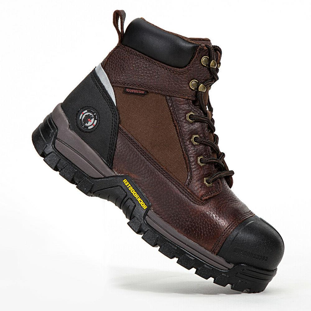 Composite Toe Waterproof Safety Working Genuine Leather
