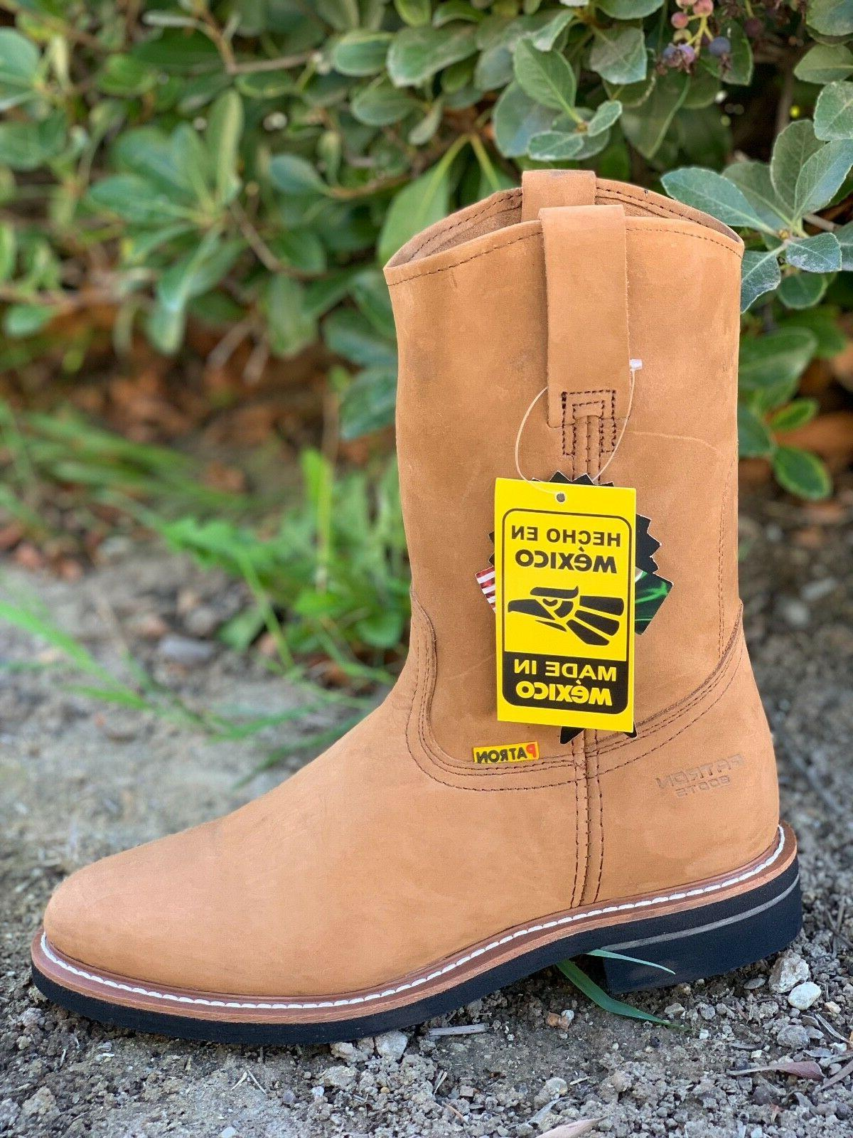 men s work boots genuine leather pull