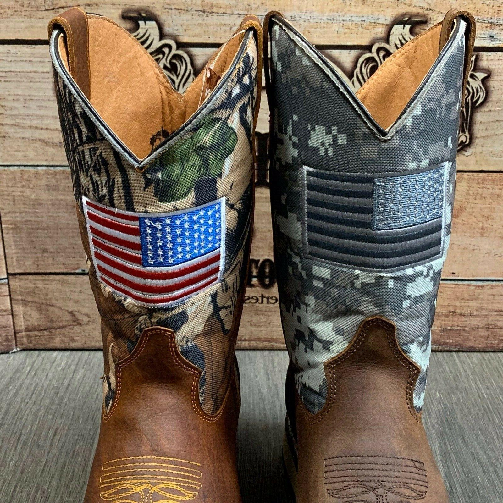 MEN'S WORK BOOTS FLAG SOFT LEATHER SAFETY