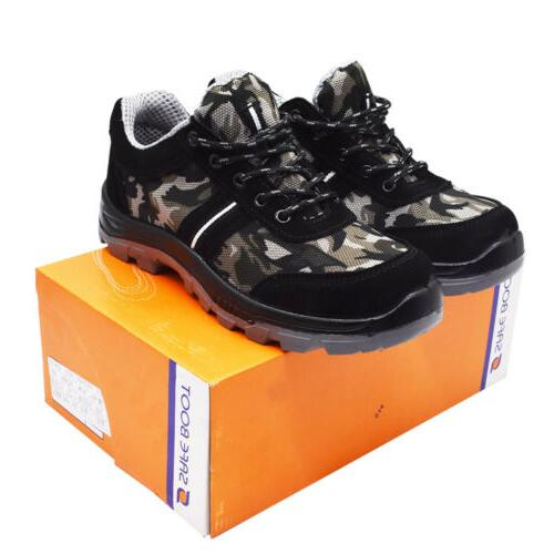 Men Work Breathable Camouflage Boots Steel