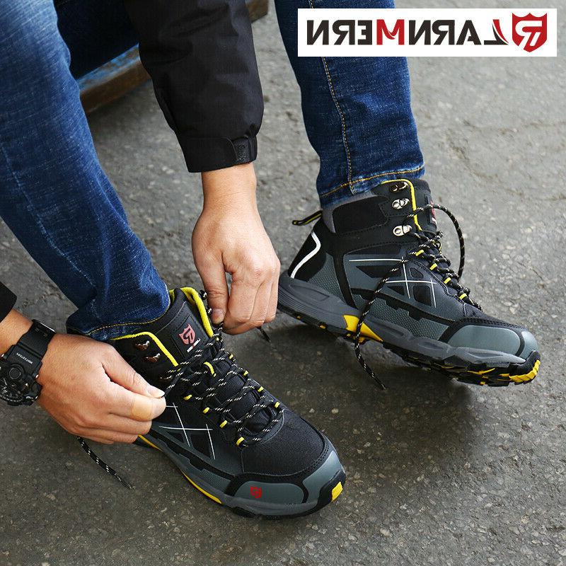 LARNMERN Men Steel-Toe Boots Outdoors Boots Waterproof Safety