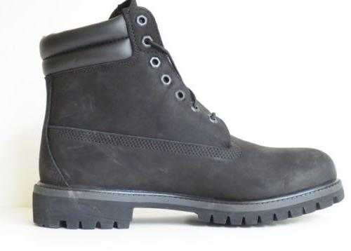 Timberland Black 6 Inch Double Leather 73541