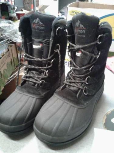 mens black boots size 10 3m thinsulate