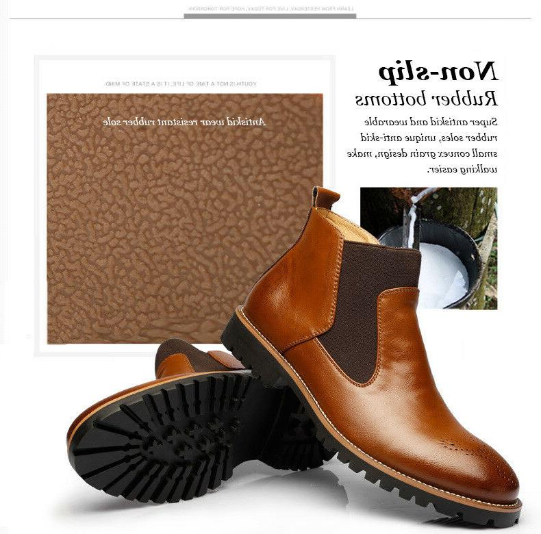 Mens Leather Boots Male Casual Shoes