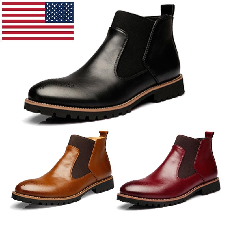 mens fashion martin leather boots male high