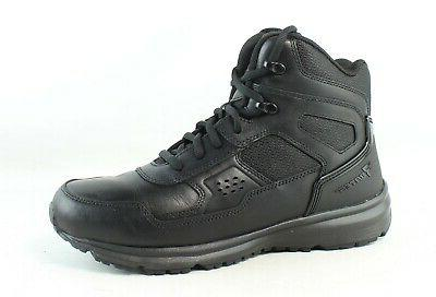 mens raide mid black military boots size
