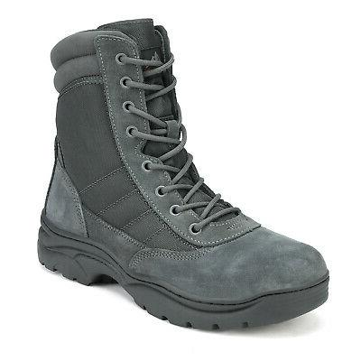 NORTIV 8 Mens Waterproof Combat Military Tactical Boots Hiking Boots