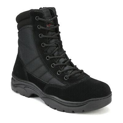 NORTIV Mens Combat Military Work Boots Ankle Hiking Boots