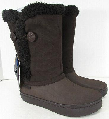 modessa synthetic suede button boot