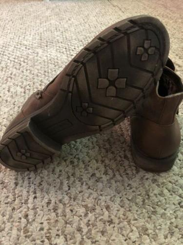 Naturalizer N5 Womens Brown Ankle Boots Sz 9,5