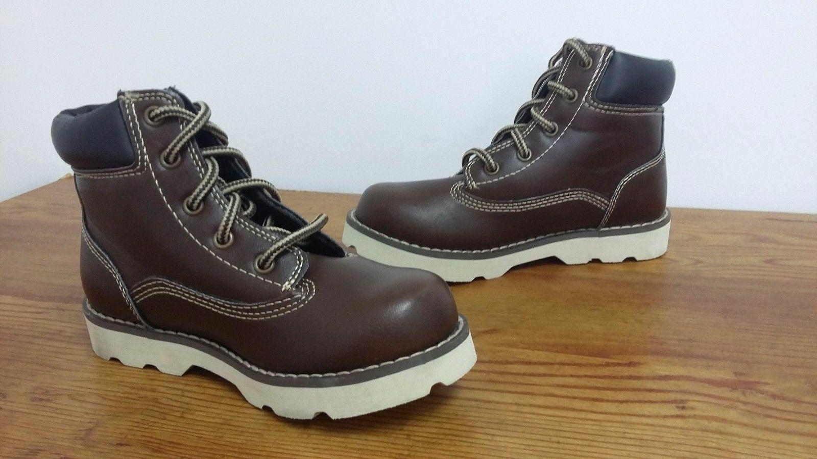 New!! Skechers Boys Youth 93633L Bowland Brown Ankle Boots J
