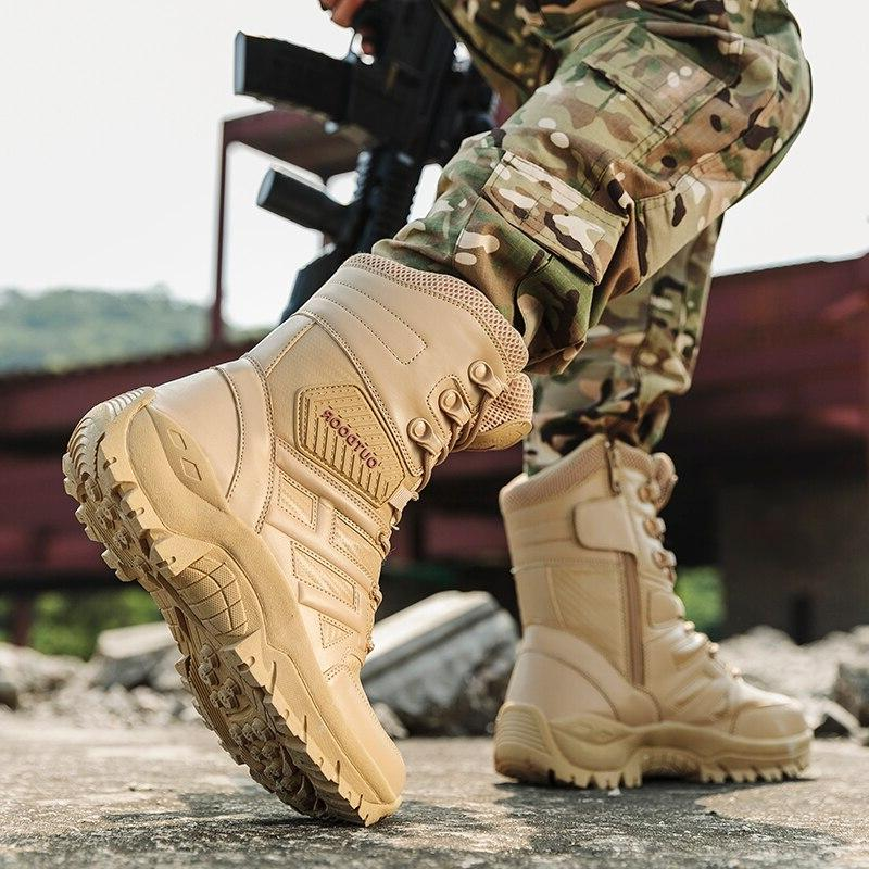 UEXIA Footwear Tactical Mens Special Force Desert Ankle Army Men's Shoes