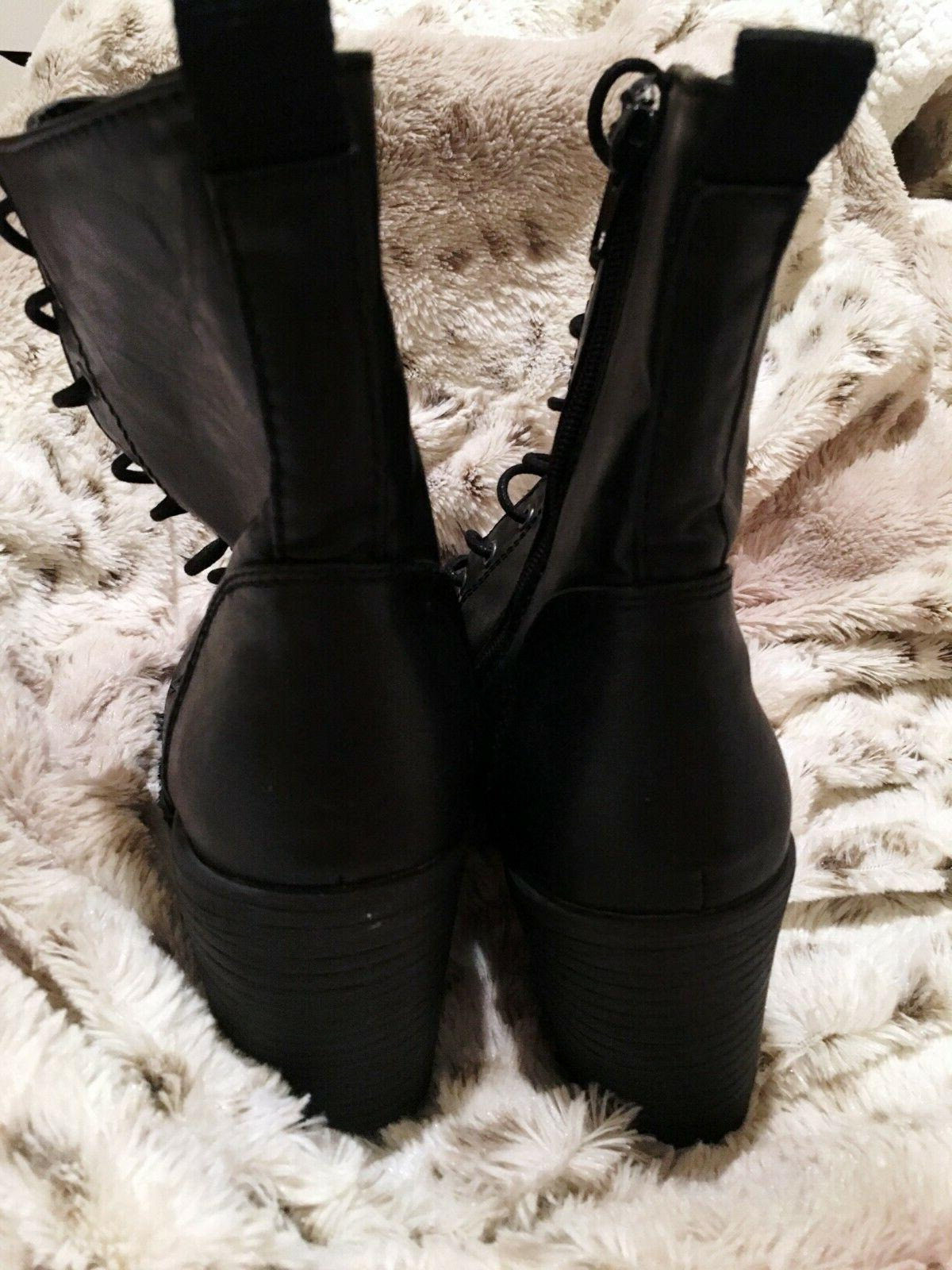 NEW Boots Heeled Booties Up Size 9 Rock