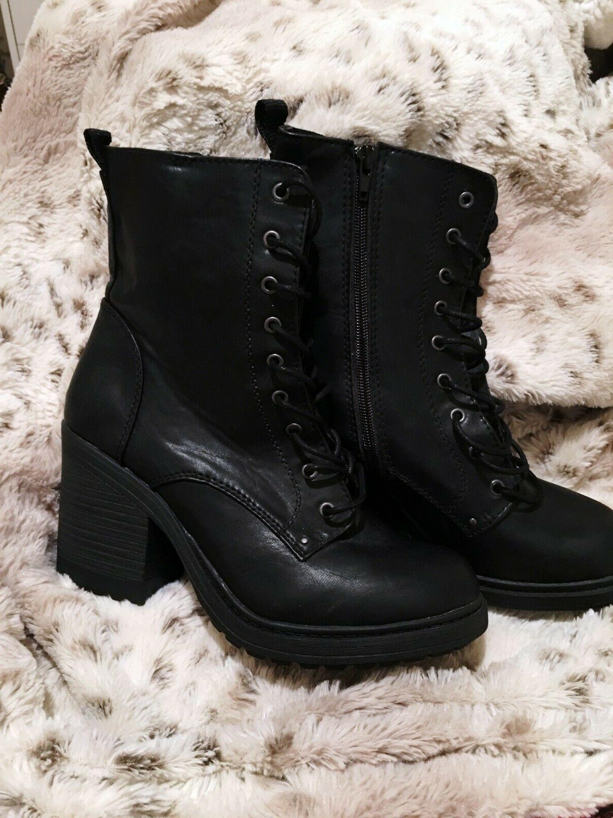 new forever21 boots heeled booties lace up