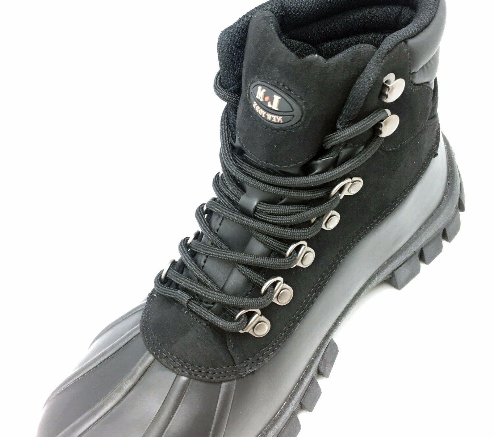 New Winter Men's Work Boots Leather Up Waterproof 2017