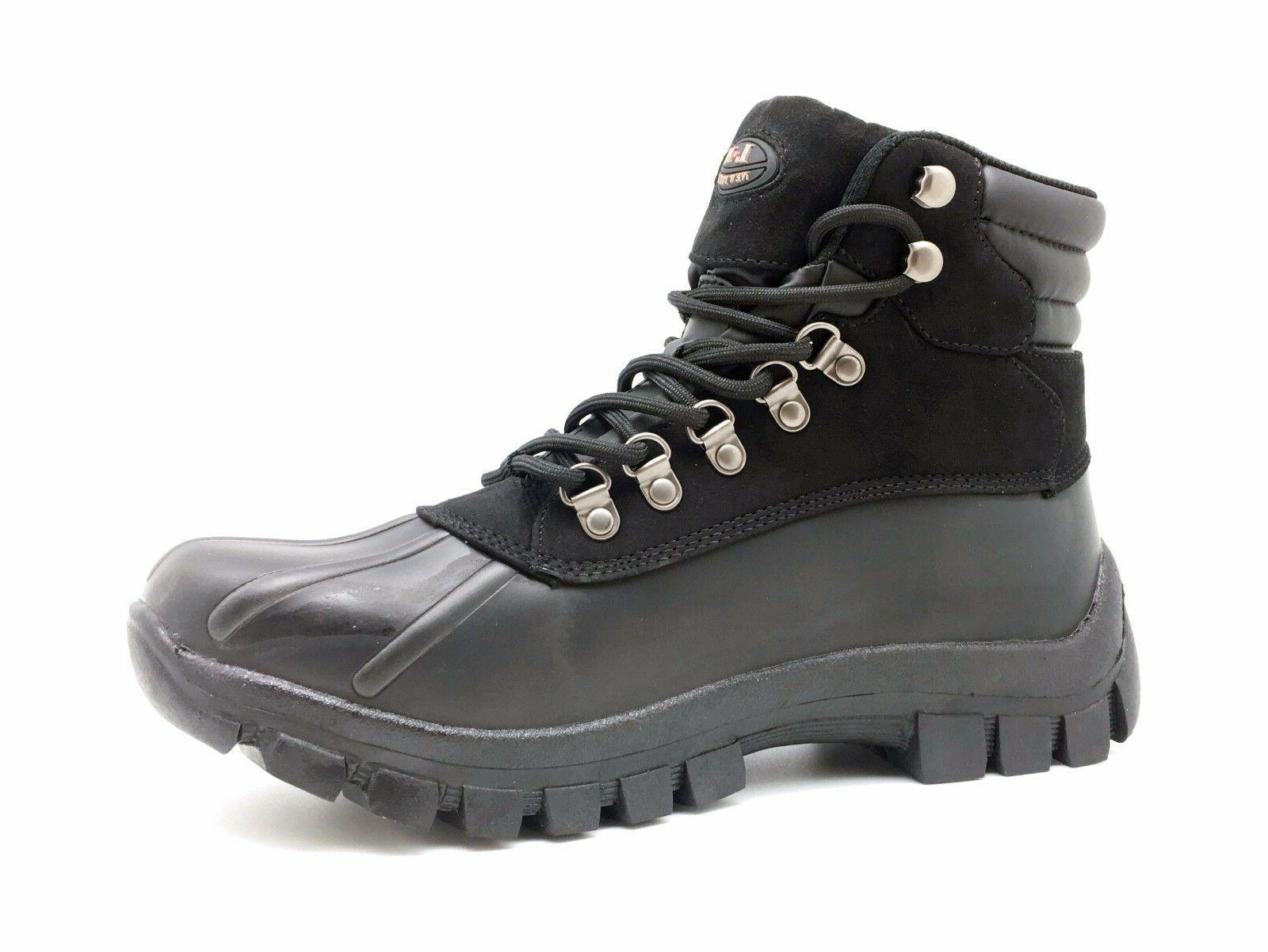 New Winter Men's Work Boots Shoes Leather Lace Waterproof 2017