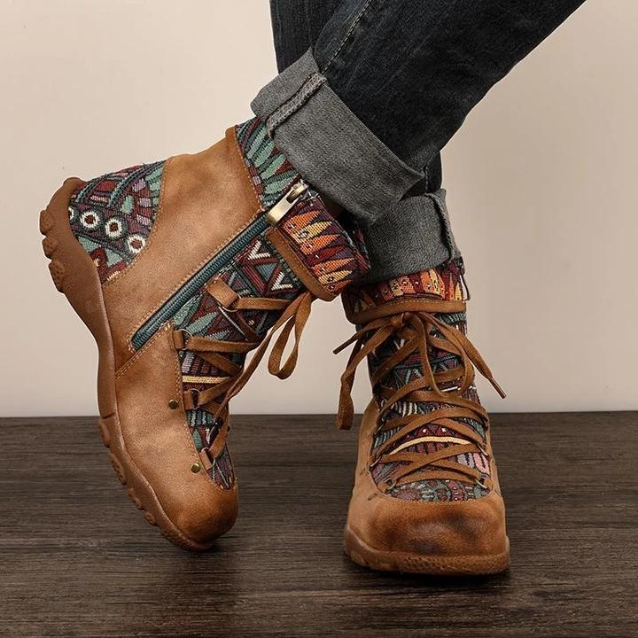 New Retro warm Embroidery <font><b>Boots</b></font> Comfortable shoes