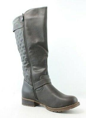 New Win Womens Gray Boots 8