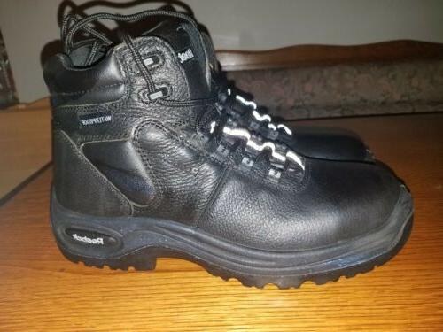 nwob mens steel toe work boots black