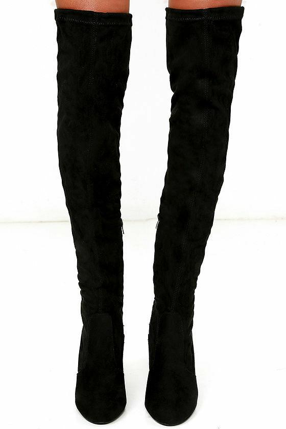 Over Knee Boots Thigh Round Toe Block Heel Boot