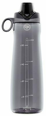 Pogo BPA-Free Plastic Water Bottle with Chug Lid, 40 oz, Gre