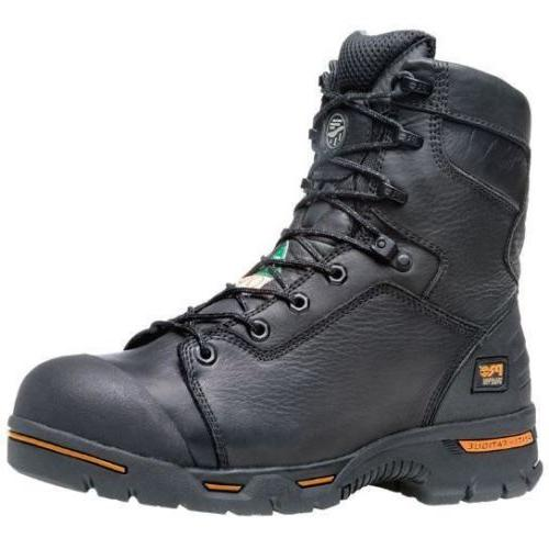 "Timberland PRO 8"" Steel Work Boots Black TB095567001"