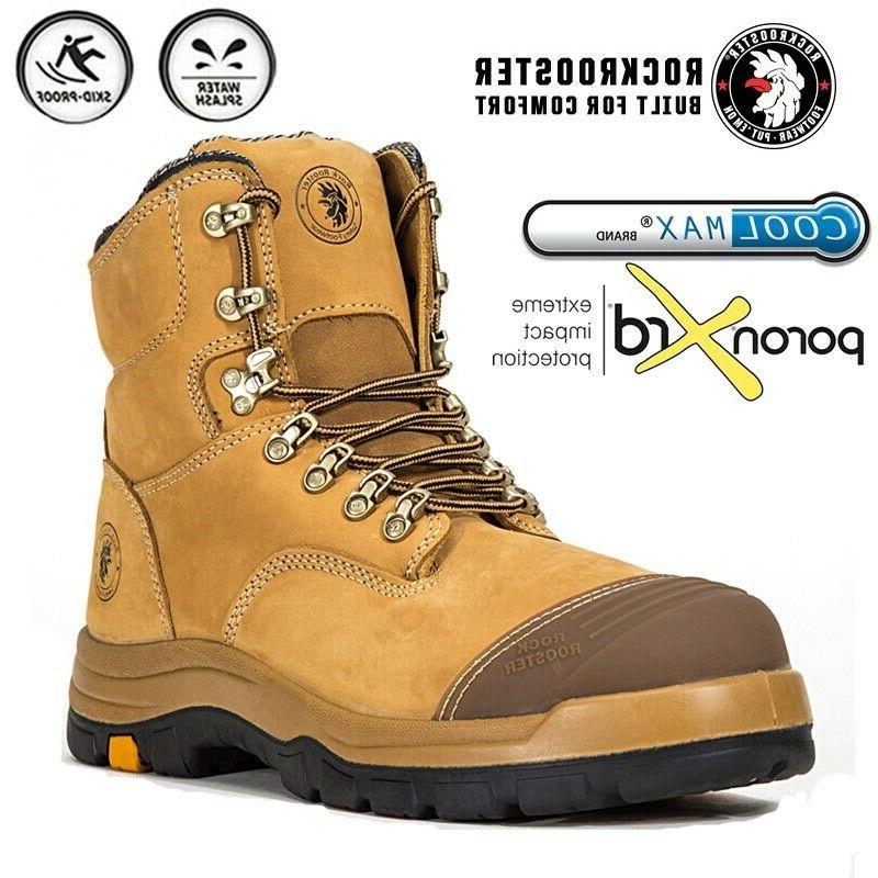 safety work boots mens steel toe cap
