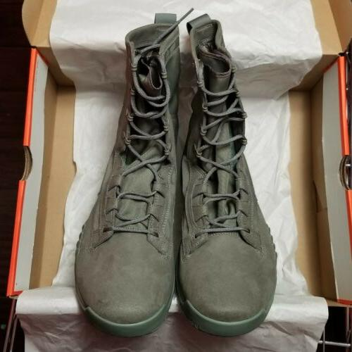"Nike 8"" Sage Green Special Field Military Boots"