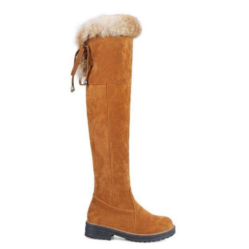 KemeKiss Over Thick Fur Up Warm Shoes Women