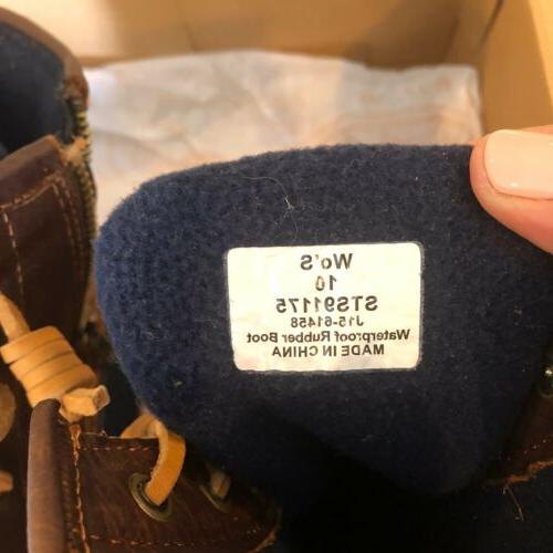 SPERRY Saltwater Boot Tan/Navy Style 10M
