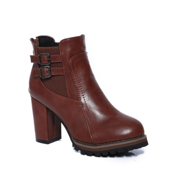 Square <font><b>Ankle</b></font> Size 2018 Autumn and Button Fashion